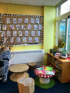 A partial view of the Rainbow classroom
